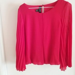 A. Beyer Red Blouse Sz S